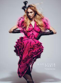 """Dauphine McKee in """"The Art of Couture"""" by Benjamin Kanarek for the cover of ELLE Vietnam - More on http://www.benjaminkanarekblog.com/mbw"""