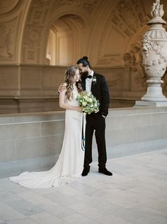 Romantic City Hall Elopement Portraits // Photography ~ Lara Lam