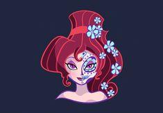 Megara caracterizada como La Catrina