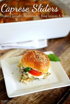Caprese Sliders with