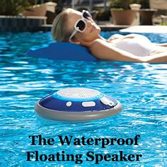 """And another great #Fundraising Auction item! I'd be bidding on this for sure! -> """"Have some booming beats in the pool, bath, shower, or Jacuzzi with the Brookstone waterproof and bluetooth enabled Floating Speaker."""""""