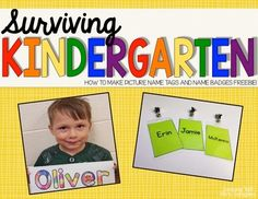 Back to School Name Tags Editable by Learning with Mrs Langley   TpT Preschool Name Recognition, Preschool Names, Color Activities, Learning Activities, Teaching Resources, Beginning Of School, Back To School, Name Badge Template, Name Tag For School