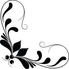 Flower black and white vector silhouette. 1000+ awesome