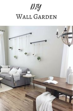 Make your own hanging wall garden. A fresh and airy way to add décor to your bare walls (scheduled via http://www.tailwindapp.com?utm_source=pinterest&utm_medium=twpin)