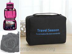 Органайзер Travel для косметики и дорожной мелочи черный