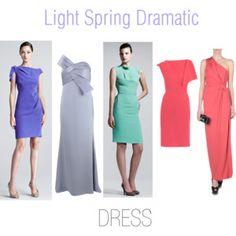 Light Spring Dramatic Dresses