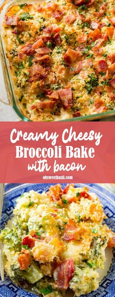 Creamy Cheesy Broccoli Bake with Bacon [+ Video] &; Oh Sweet Basil Creamy Cheesy Broccoli Bake with Bacon [+ Video] &; Oh Sweet Basil Tequila Rose theawesometr flawless foods Broccoli&;you either love […] cheesy broccoli Cheesey Broccoli, Broccoli Bake, Broccoli Recipes, Bacon Recipes, Side Recipes, Cooking Recipes, Broccoli Casserole, Baked Vegetables, Veggies