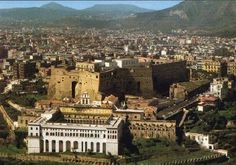 Naples, a beautiful view of Castel Sant' Elmo and Certosa San Martino.