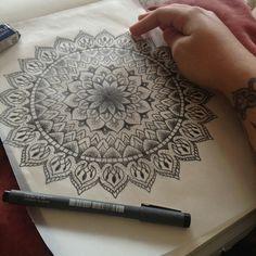 Drawing Mandalas.
