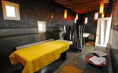 dark charcoal in a spa...restful, don't you think?