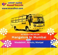 Anand Travels introducing soon a Brand New 2+1 AC Sleeper bus from Mangalore to Mumbai (via Gurpura, Moodabidri, Karkala, Manipal, Udupi). http://www.anandbus.com/ ✔2+1 AC Sleeper Coach ✔Backrest ✔Individual TV #Mumbai #Mangalore #Gurupura  #Moodabidri #Karkala #Manipal #Udupi