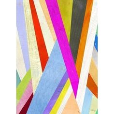 Colored Lines Modern Abstract Art