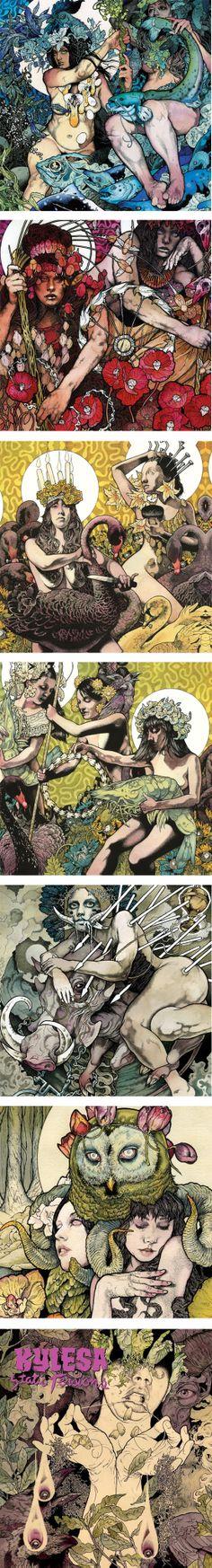 John Dyer Baizley, Painter and Illustrator from the stoner band Baroness.