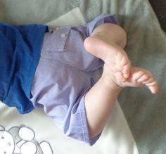 Babyshortje (recuperatie van herenhemd)
