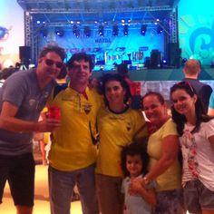 Família reunida na torcida pelo Equador! #FanFestNatal #natal #natalhostcity #brazil2014 #fifaworldcupbrazil #amelhortorcidadobrasil