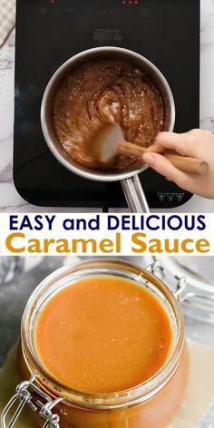 Carmel Sauce Recipe, Caramel Sauce Easy, Homemade Caramel Sauce, Caramel Recipes, Homemade Caramels, Mexican Food Recipes, Sweet Recipes, Dessert Recipes, Dessert Sauces