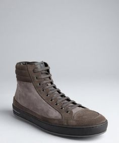 Tod's : lavagna suede 'T Project' lace-up mid-top sneakers