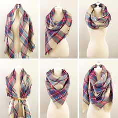 Want to know 6 different ways to wear a blanket scarf? Let @stylishpetite show you how . #Regram #FallFashion