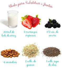 Shake para substituir o jantar || Para dietas de emagrecimento!
