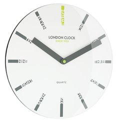 Institute contemporary design into your everyday accents with the quality glass of the Ignite Letter Wall Clock, White from London Clock Company. Big Wall Clocks, White Wall Clocks, Black Clocks, Traditional Clocks, London Clock, Retro Clock, Kitchen Wall Clocks, Wall Clock Online, Mantle Clock