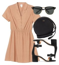 """""""Untitled #5748"""" by laurenmboot ❤ liked on Polyvore featuring Monki, Vince Camuto, Gianvito Rossi and Ray-Ban"""