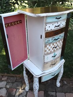 Jewelry Armoire hand painted SLEEPING BEAUTY by accentbydesign, $495.00