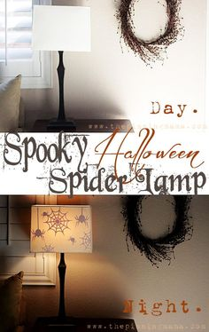 Watch the spiders magically appear as it gets dark outside and the lamps go on! You will love how, quick, easy and fun this Halloween craft is!