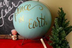 Upcycle a thrift store globe with the help of your Silhouette - Fun Silhouette Project ideas  via  A Turtle's Life for Me