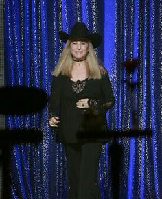 Barbra Streisand performs onstage during the 'Barbra - The Music... The Mem'ries... The Magic! Tour' at Toyota Center on November 27, 2016 in Houston, Texas. (Photo by Bob Levey/WireImage)