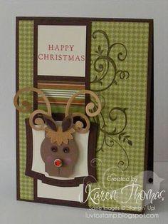 Punch art reindeer