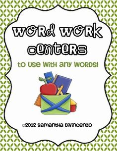 10 word work activities and recording sheets that can be used alllll year long with ANY words! Super easy prep -- just need word lists and letter tiles!