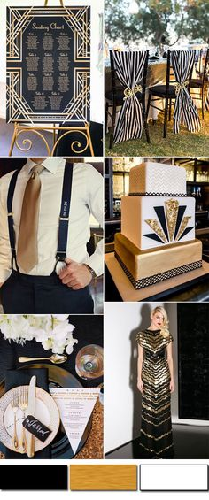 black and gold modern wedding inpiration for fall weddings