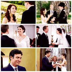How I Met Your Mother + weddings - Lily and Marshall / Barney and Robin / Tracy and Ted - HIMYM parallel