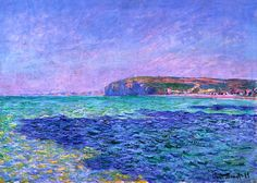 Shadows on the Sea The Cliffs at Pourville - Claude Monet