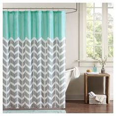 Darcy 100% Microfiber Printed Shower Curtains : Target