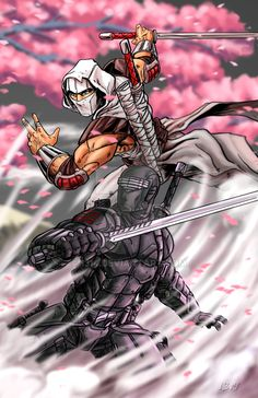 Snake Eyes vs Storm Shadow by 1314 on DeviantArt Arte Ninja, Ninja Art, Arte Dc Comics, Batman Comics, Snake Eyes Gi Joe, Diamond Comics, Angel Warrior, Shadow Warrior, Cartoon Tattoos