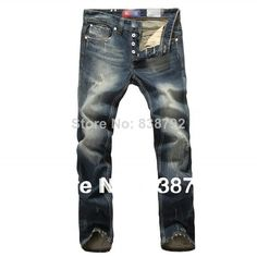 2014 New Arrival Fashion Men's Designer Jeans Famous Brand Cotton Denim Slim Straight Trousers Ripped Jeans for Men Large Size $36.89
