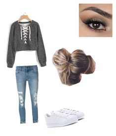 """Untitled #1"" by giselle-munozz ❤ liked on Polyvore featuring J Brand and adidas Originals"
