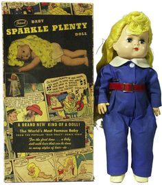 Sparkle Plenty Doll. She was in the Dick Tracey comics..I think she was Dick's daughter. Geon had one of these