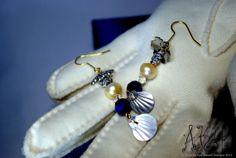 Freshwater Golden Pearl Earrings  Ocean by GeekyGlamourGirl, $21.00