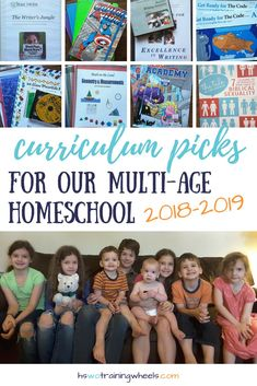 Want to see the homeschool curriculum we've chosen for our mult-age homeschool family? Come take a peek at our resources! Homeschool Curriculum Reviews, Homeschool High School, Homeschooling Resources, Homeschool Math, Home Schooling, Elementary Math, Teaching, Wheels, Bilingual Education