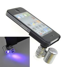 BestDealUK 60x Zoom Mobile Microscope Micro Lens for Apple iPhone 4 4S UV LED @ £2.27