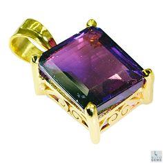 #Alexandrite CZ Gold Plated #Fashion #pendant #Artificial #RiyoGems #Jewelry #Jewellery #gems #gemstones