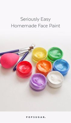 DIYing Your Halloween Costume? Here's How to Make Seriously Easy Homemade Face Paint DIYing Your Halloween Costume? Here's How to Make Seriously Easy Homemade Face Paint – Homemade Face Paints, Homemade Paint, Homemade Face Masks, How To Make Homemade, Painting For Kids, Diy Painting, Belly Painting, Painting Tutorials, Makeup Tutorials