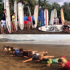 Group surf lesson! #goodtimes #surfing #vacation #surfcamp