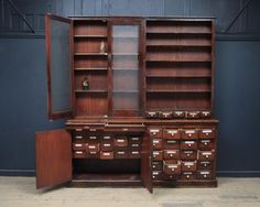 European Apothecary Cabinet, Antique Cabinets & Storage, Drew Pritchard