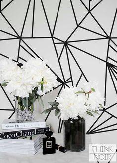 15 % Minimalistic Stripe Removable Wallpaper by ThinkNoirWallpaper