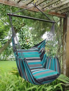 The most important component for any hanging hammock chair is how the chair is supported. Any hanging hammock chair needs to be securely bolted into a timber or steel beam, unless you are hanging from a strong branch