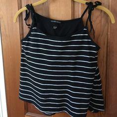 Victoria's Secret top Black with white striped top Victoria's Secret Tops Tank Tops