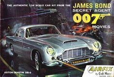 James Bond Cars - Aston Martin and 007 - Cars featured in the James Bond films. Model Engine Kits, Model Cars Kits, Kit Cars, Car Kits, James Bond Cars, James Bond Movies, Aston Martin Db5, Plastic Model Cars, E Type